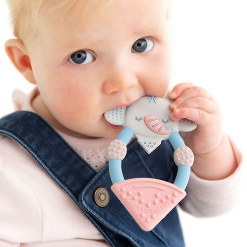 Cheeky Chompers Textured Teether, Darcy The Elephant