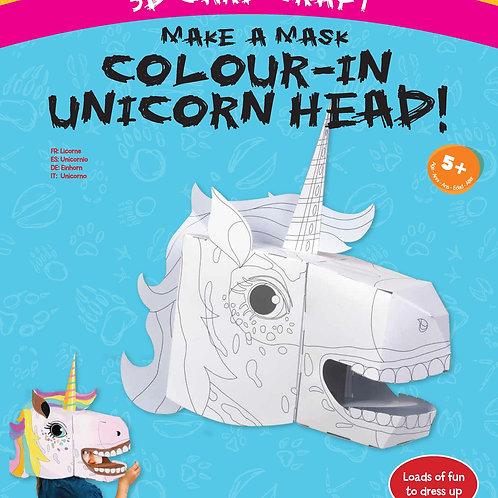 Fiesta Crafts Unicorn Colour-in 3D Mask Card Craft
