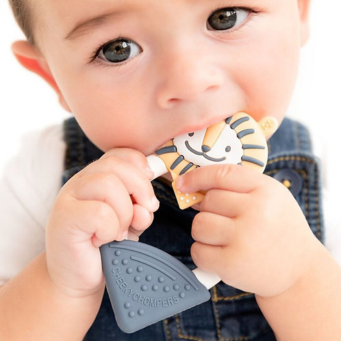 Cheeky Chompers Textured Teether, Bertie The Lion