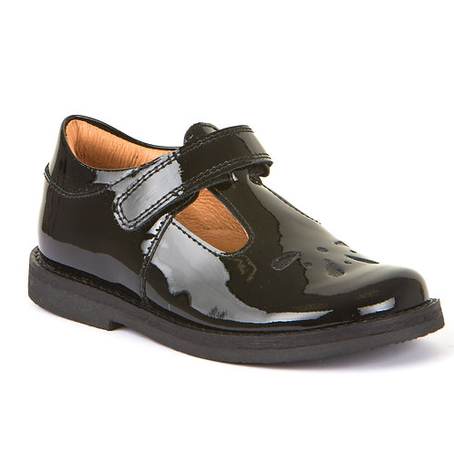 Froddo G3140073-1 Black Patent T-Bar School Shoe