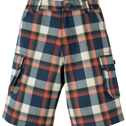 Frugi Check Shorts, Multicheck