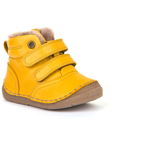 Froddo G211087-7 Fur Lined Ankle Boots,Yellow