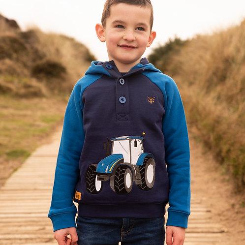 Lighthouse Jack Sweatshirt, Blue Tractor