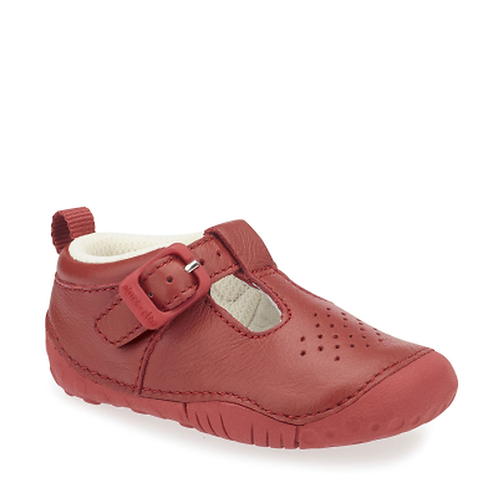 Startrite Baby Jack Pre-walkers, Red Leather