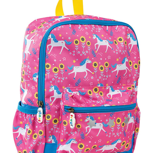 Frugi Adventurers Backpack, Flamingo Unicorn Skies