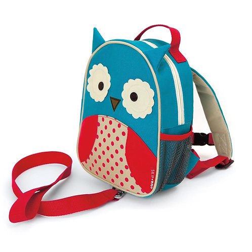 SkipHop Mini Backpack with Reins, Owl