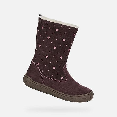 Geox Hadriel Tall Waterproof Boot, Dark Burgundy