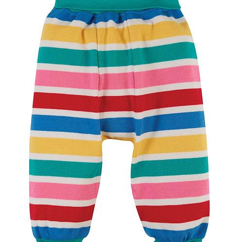 Frugi Parsnip Pants, Rainbow Multi Stripe