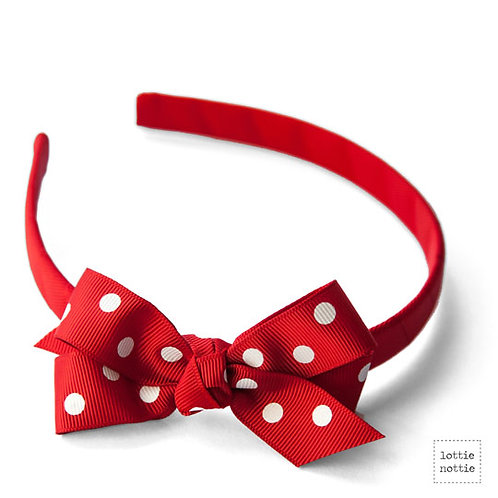 Lottie Nottie Alice Band, Red Polka