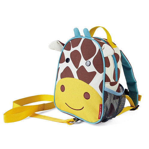 SkipHop Mini Backpack with Reins, Giraffe