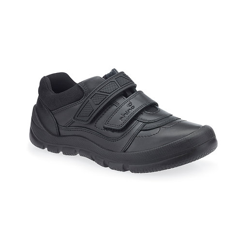 Startrite Rhino Warrior Black Leather School Shoes