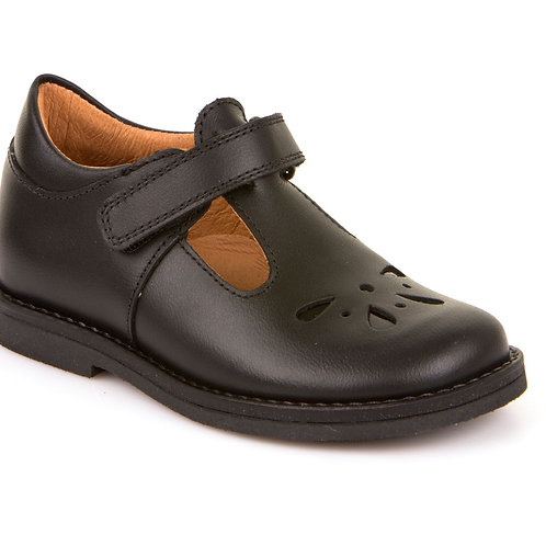 Froddo G3140073 Black Leather T-Bar School Shoe