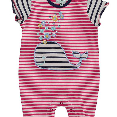 Lilly & Sid Whale Applique Romper