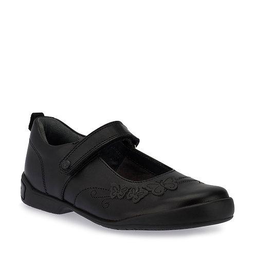 Startrite Pump, Black Leather School Shoes