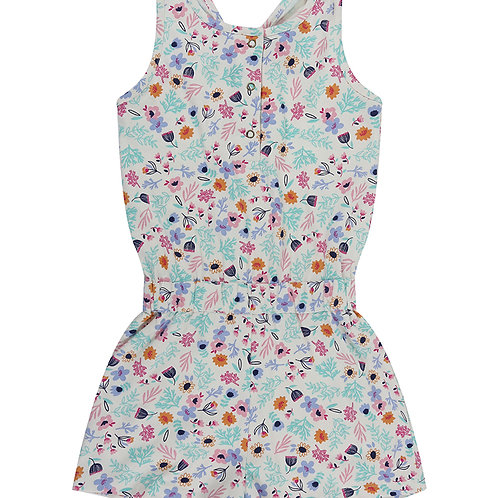 Lilly & Sid Jersey Playsuit, Ditsy