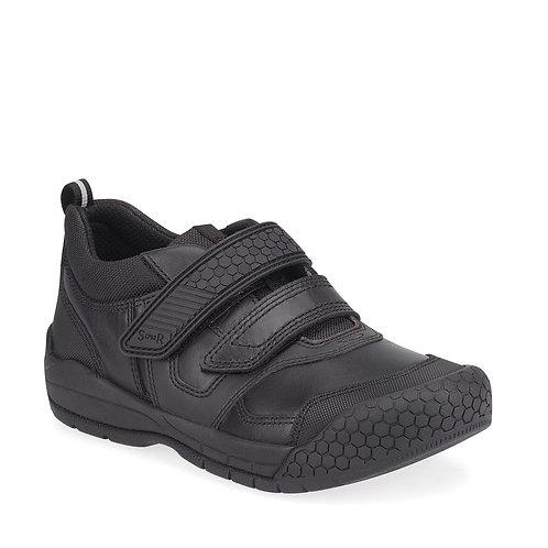 Startrite Strike, Black Leather School Shoe