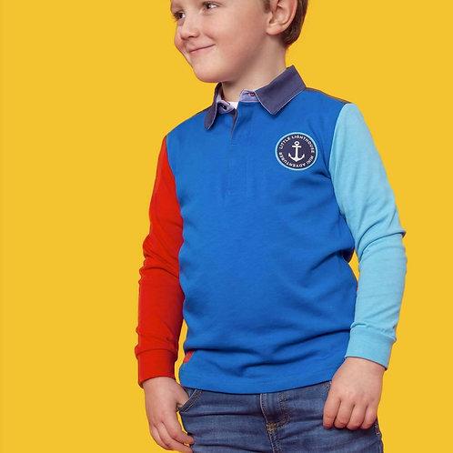 Lighthouse Alfie Rugby Shirt, Ocean Blue