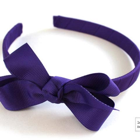 Lottie Nottie  Solid Alice Band, Purple