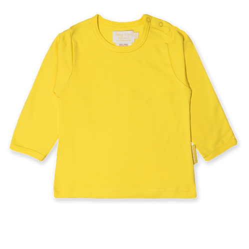 Toby Tiger Organic Basics Long Sleeved Tshirt, Yellow