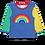 Thumbnail: Toby Tiger Organic Rainbow Applique Tshirt