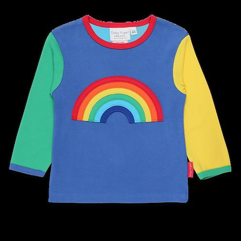 Toby Tiger Organic Rainbow Applique Tshirt