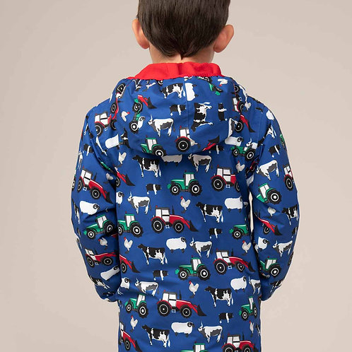 Lighthoue Lucas Coat - Farmyard Print - Primary Colours
