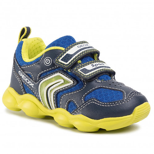 Geox Munfrey  Navy/Lime Junior Trainer with Lights