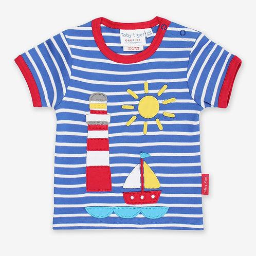 Toby Tiger Organic Seaside Applique Tshirt