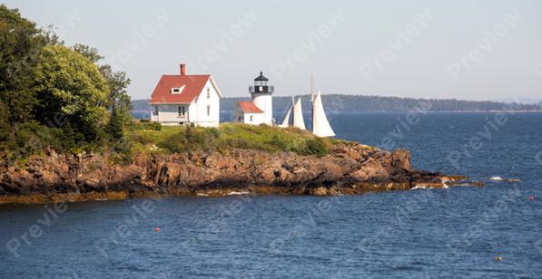 129 Camden Maine Curtis Island Lighthouse