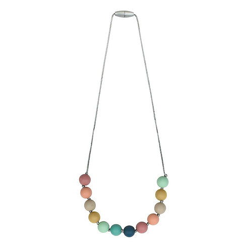 Itzy Ritzy Muted Rainbow Teething Necklace