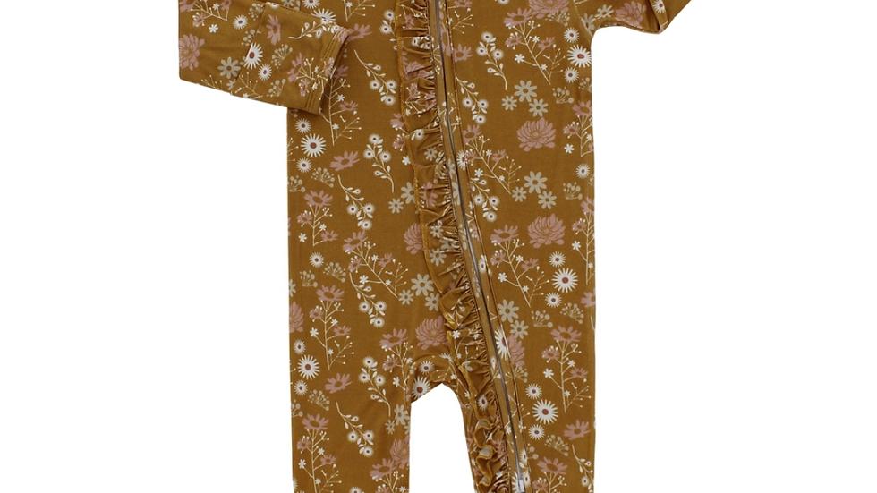 Bamboo Pajamas - Mustard Floral