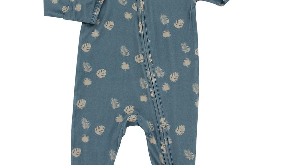 Bamboo Pajamas - Blue Palm