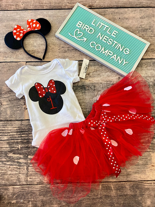 Minnie Mouse Birthday Set - ONE or TWO