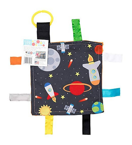 Space 8x8 Crinkle Sensory Toy