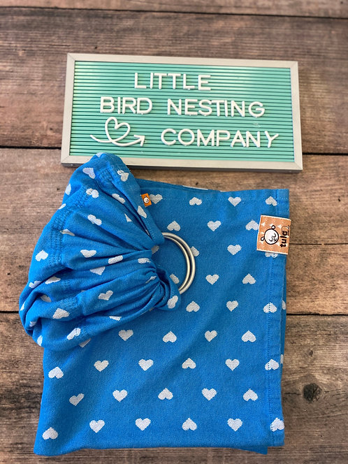 Tula Woven Ring Sling - Blue & White (USED)