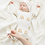 Thumbnail: Neutral Rainbow Bamboo Baby Gown and Hat