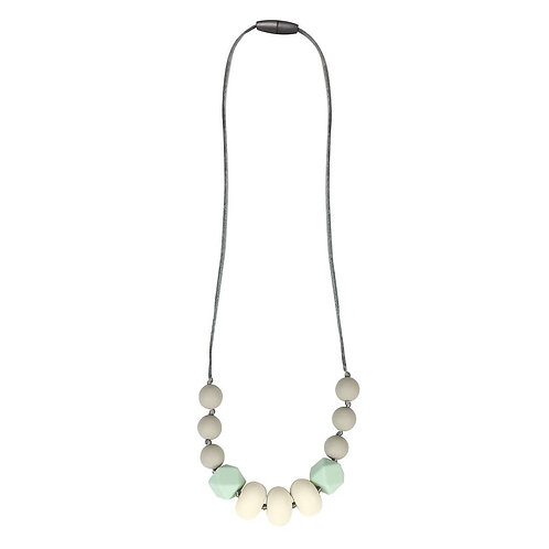 Itzy Ritzy Mint/Grey Teething Necklace