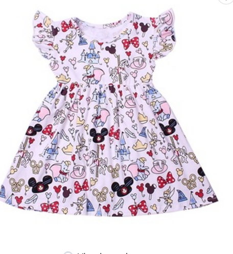 "Happiest Place on Earth ""Milk Silk"" Dress"