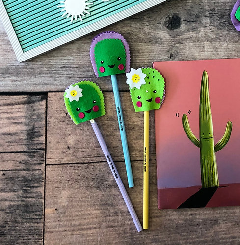 Baby Cactus Pencil Topper (includes pencil)
