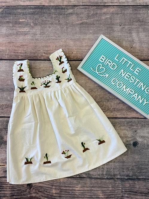 Embroidered Cactus Dress