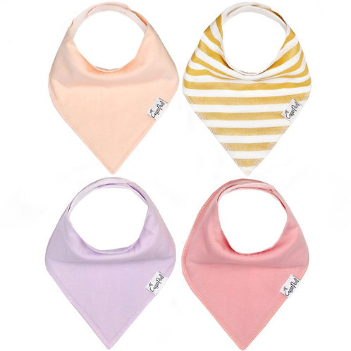 4 Pack Copper Pearl Bibs - SWEETHEART