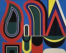 Jean Dewasne / Forces vives / Gouache / 1970 / 56 x 82,5 cm / Podgorny Robinson Gallery