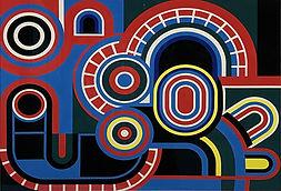 Jean Dewasne / Coeure libre / Gouache / 1970 / 49 x 64 cm / PodgornyRobinson Gallery