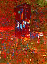 Reza Derakshani / Garden Party Red House / 2019 / 200 x 140 cm / Oil on canvas
