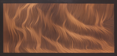 John Franzen / Each Line One Breath / 200 x 100 cm / Black coated Copper