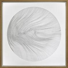 John Franzen / Each Line One Breath / 100 x 100 cm / Pencil on paper