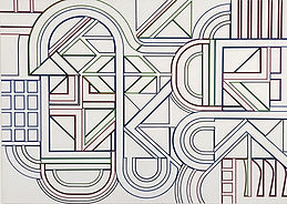 Jean Dewasne / Composition abstraite / Gouache / 1970 / 46,5 x 63 cm / Podgorny Robinson Gallery