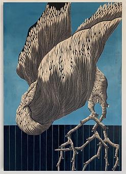 Zoe Ouvrier / Bird Tree / 100 x 70 cm  *©ZoeOuvrier / Courtesy PR Gallery