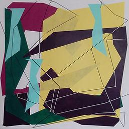 Nicolas Sanhes / 2021 / 140 x 140 cm / acrylique sur toile / Podgorny Robinson