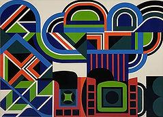 Jean Dewasne / Composition abstraite / Gouache / 1970 / 49 x 64 cm / PodgornyRobinson Gallery